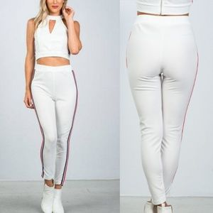 Side Stripe - Top & Pants Set - Large